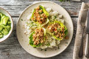 Aziatische rijstsalade met pittig kipgehakt image