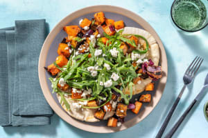 Baharat Roasted Butternut and Aubergine on Flatbreads image