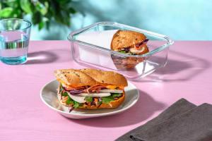 Bahn-Mi Style Chicken Sandwich with Sriracha Mayo, Slaw and Coriander image