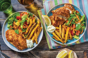 Baked Chicken Kievs & Potato Fries image