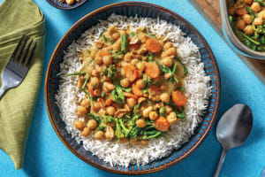 Easy Baked Thai Green Chickpea Curry image