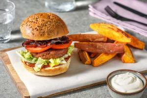 Veganer BBQ-Burger image