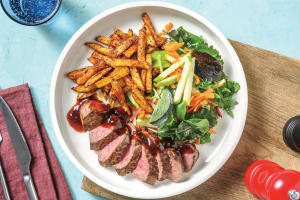 BBQ & Cherry-Glazed Steak image