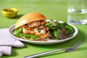 BBQ Chicken and Mushroom Melts image