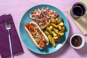 BBQ Glazed Sausages in Buns image