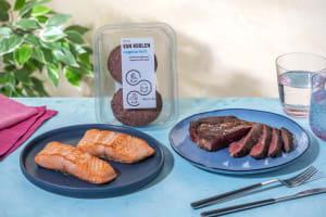 BBQ-trio vlees, vis en veggie image