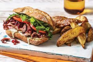 Lamb Steak & Creamy Pesto Sandwich image