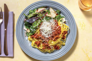 Beef & Sugo Sauce with Fresh Fettuccine & Parmesan image