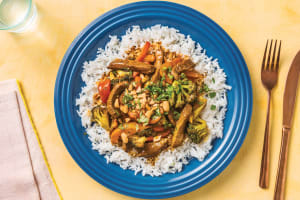 Bengali Beef Strip Curry with Rice image