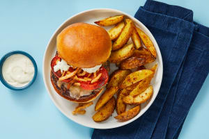 Big League Blue Cheese Crunch Burgers image