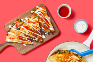 One-Pan Black Bean & Poblano Quesadillas image