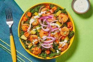 Blackened Shrimp & Kale Salad image
