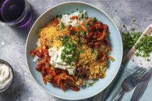 Bohnenpfanne mit Tortilla-Crunch image