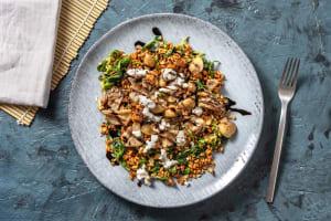 Garlicky Mixed Mushroom Farro Bowl image