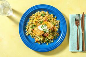 Middle Eastern-Spiced Salmon Bulgur Bowls image