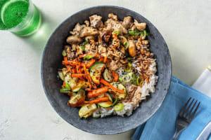 Turkey Zucchini Bibimbap Bowls image