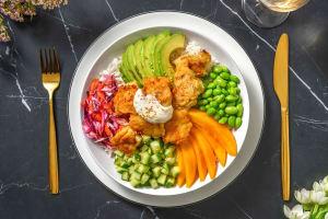 Luxe bowl met kabeljauw-tempura en mango image