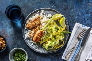 Brochettes de poulet & riz au lait de coco image
