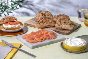 Tartine au saumon image