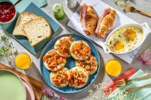 Brunch : blinis au saumon & croissants salés image
