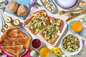 Brunch de Pâques: tarte fine saumon & asperges image