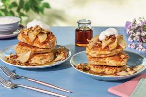 Caramelised Pear & Pecan Pancakes image
