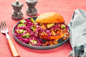 Bulgogi-Flavored Pulled Pork Sandwiches image