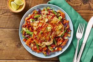 Bulgogi-Glazed Pork over Veggie Stir-Fry image