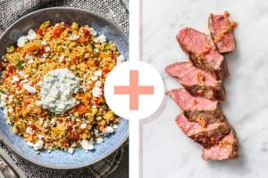 Couscous-Gemüse-Pfanne mit Steakstreifen image