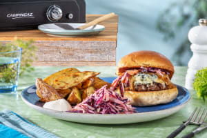 Burger à la fourme d'Ambert & oignons confits image