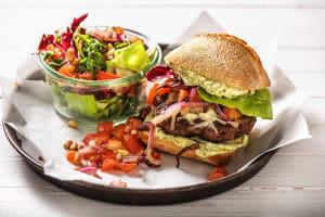 Burger aux couleurs de l'Italie image