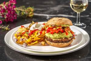 Burger de boeuf au guacamole & cheddar fondu image