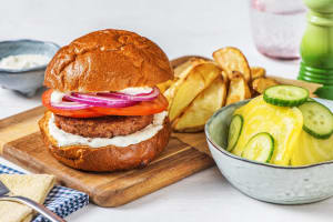 50-50 Burger met tomatenbroodje image