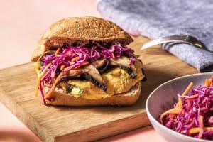 Burger végétarien au portobello et à la fourme d'Ambert image