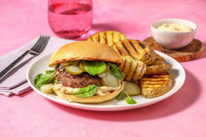 Prime Rib and Grilled Onion Burger image
