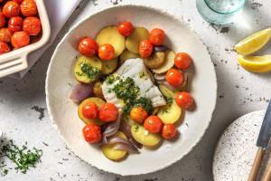 Mediterrane kabeljauw met zelfgemaakte kruidenboter image