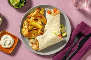 Caesar Salad Wraps mit Hähnchen image