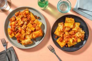 Cajun Chorizo, Chicken Breast and Tomato Pasta image