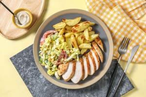 Cajun-Hähnchen mit Salat in Buttermilch-Dressing image