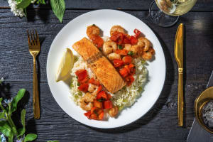 Cajun Salmon and Shrimp image