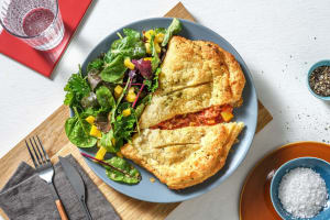 Homemade Vegetable-Packed Calzone image