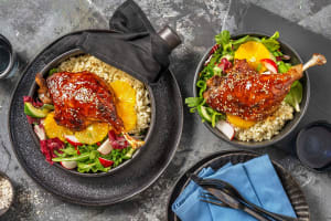 Gekonfijte eend in knapperig ketjap-jasje image