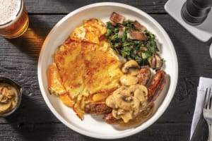 Beef Sausages & Mushroom Gravy image