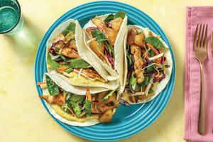 Caribbean Chicken Tacos with Slaw & Mango Mayo image