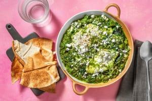 Groene shakshuka met linzen en spinazie image
