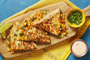 Charred Corn & Poblano Quesadillas image