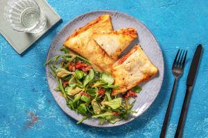 Chaussons mozza, jambon & tomates façon panzerotti image