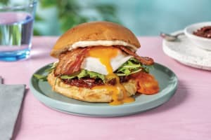 Cheesy Bacon & Egg Brunch Burger image