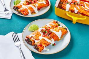 Cheesy Black Bean Enchiladas image