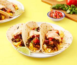 Cheesy Breakfast Tacos image